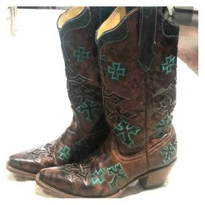 Corral turquoise cross boots